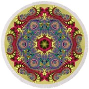 The Red Dragon Round Beach Towel