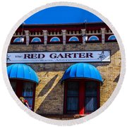 The Red Garter Round Beach Towel
