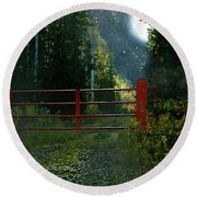The Red Gate Round Beach Towel