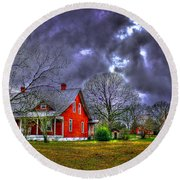 The Red House Round Beach Towel
