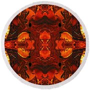 The Red Light Round Beach Towel
