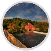 The Red Mill Round Beach Towel