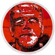 The Red Monster Round Beach Towel