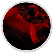 The Red Planet Cometh Round Beach Towel