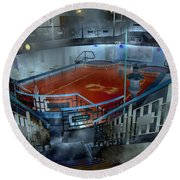 The Red Pool Round Beach Towel