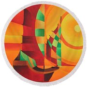 The Red Sea Round Beach Towel by Tracey Harrington-Simpson