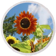 The Red Stand Out Round Beach Towel