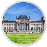 The Reichstag Building Berlin Germany Round Beach Towel