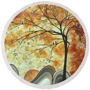 The Resting Place By Madart Round Beach Towel