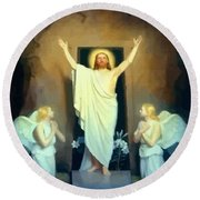 The Resurrection Of Christ By Carl Heinrich Bloch  Round Beach Towel