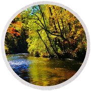 The Rifle River At Highbanks Base Round Beach Towel