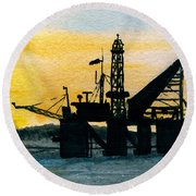 The Rig Round Beach Towel