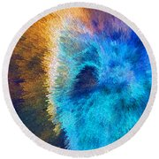 The Right Direction - Abstract Art By Sharon Cummings Round Beach Towel