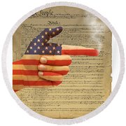 The Right To Bear Arms-4 Round Beach Towel