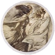 The Ring Upon Thy Hand - ..ah Round Beach Towel