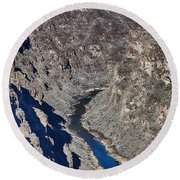 The Rio Grande River-arizona  Round Beach Towel