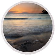 The Rise And Fall Round Beach Towel by Mike  Dawson