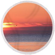 The Rising Sun Round Beach Towel