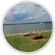 The River At Jamestown Round Beach Towel