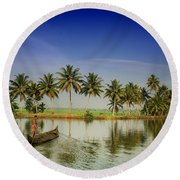 The River Man Round Beach Towel