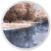 The River - Near Infrared Round Beach Towel