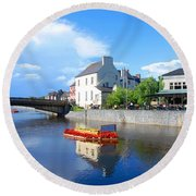 The River Nore Round Beach Towel