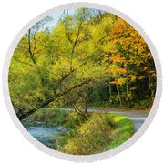 The River Road Curve Round Beach Towel