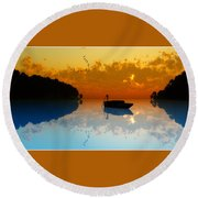 The Riverboat... Round Beach Towel