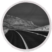 The Road Ahead-infrared Round Beach Towel