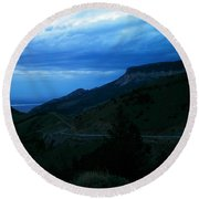 The Road To Cody Round Beach Towel