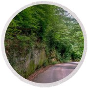 The Road To Nowhere Round Beach Towel
