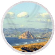 The Rock At Morro Bay Round Beach Towel