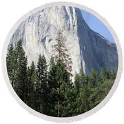 The Rock Chief Round Beach Towel