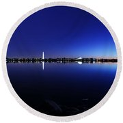 The Rocks Of The Potomac Round Beach Towel