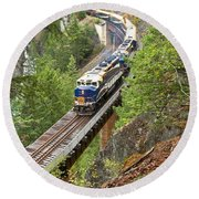 The Rocky Mountaineer Railroad Round Beach Towel