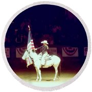 The Rodeo  Round Beach Towel