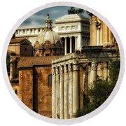 The Roman Forum 2 Round Beach Towel