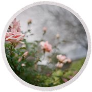 The Rose Garden Round Beach Towel