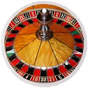The Roulette Wheel Round Beach Towel