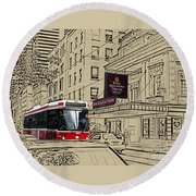The Royal Alex On King Street Round Beach Towel