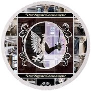 The Royal Connaught Crest Photo Collage Round Beach Towel