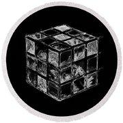 The Rubik's Cube Round Beach Towel