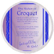 The Rules Of Croquet  Round Beach Towel