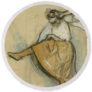 The Russian Dancer Round Beach Towel