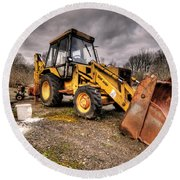 The Rusty Digger Round Beach Towel