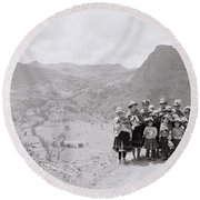 The Sacred Valley Round Beach Towel
