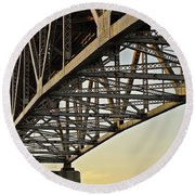 The Sagamore Bridge Round Beach Towel by Luke Moore