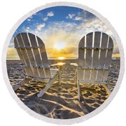 The Salt Life Round Beach Towel