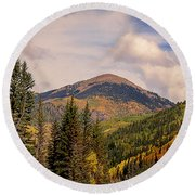 The San Juan National Forest Round Beach Towel