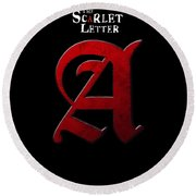 The Scarlet Letter Round Beach Towel